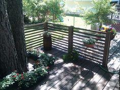 good idea for deck railing