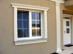 Dentil Moulding, Window Moulding, Cornice Design, House Front Design, Bungalow, Windows, Window Ideas, Plans, House Ideas