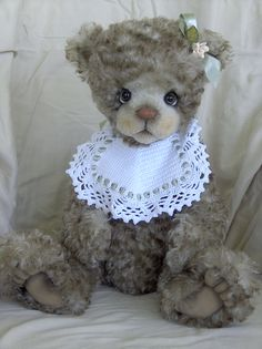 Darlene - Long Long Ago Collectibles by Teddy Bear Artist Pat Youderin