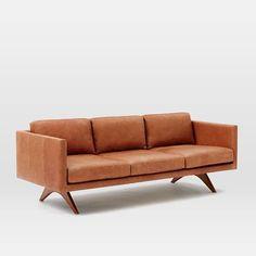 """Brooklyn Leather Sofa (81"""") #westelm"""