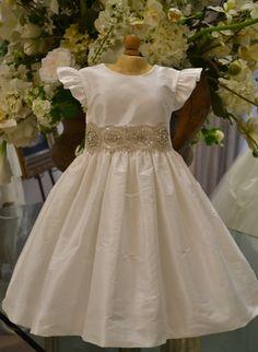 Christening Dress Baptism Dress Flower Girl by CouturesbyLaura