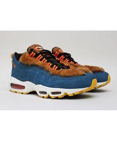 low priced cc71d c2631 Nike Air Max 95 Custom Black White Blue Villi Shoes Air Max 95 Mens, Nike