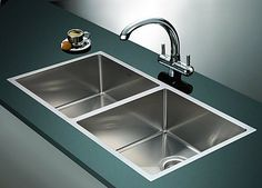 If you think it's time for an upgrade, we would recommend none other than this Double Square Handmade Stainless Steel Sink. This modern sink with beautiful stainless stee Top Mount Kitchen Sink, Double Bowl Kitchen Sink, Cheap Kitchen Faucets, Kitchen Sinks, Bathroom Faucets, Construction Cleaning, Modern Sink, Stainless Steel Sinks, Satin Finish