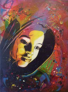 C215, Wonderland Pop Art, Graffiti, Wonderland, Black Women Art, African American Art, Paint Party, Concert Posters, French Artists, Art Design