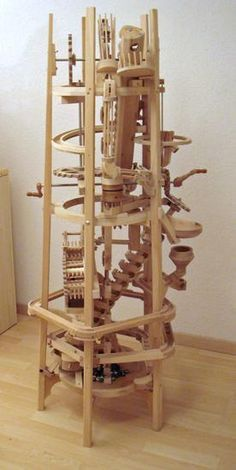Seven amazing marble machines with videos of each one in operation. Grundbacher. - check more on my website