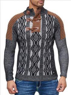 Stoere winter trui voor mannen met colkraag van het casual merk Rusty Neal. Ideaal voor deze koude dagen. #stoere #colkraag  #trui #itialian #style  🇮🇹️ www.italian-style.nl 🇮🇹️  - Vragen? bel 0527-240817 of mail naar info@italian-style.nl - Snelle levering  - Ruime collectie - Webshop keurmerk - Scherpe prijzen