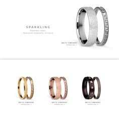 Sparkling like stardust; BERING jewellery; Arctic Symphony Collection; Twist & Change System; Rings