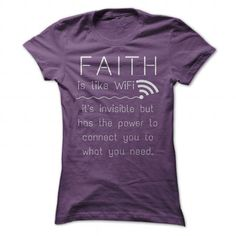 Faith is like WiFi - it connects you to what you need - #gift for teens #cool hoodie. CHECK PRICE => https://www.sunfrog.com/Faith/Faith-is-like-WiFi--it-connects-you-to-what-you-need-Purple-41758086-Ladies.html?id=60505