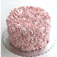 You don't need someone to complete you. You only need someone to accept you completely. Beautiful Birthday Cakes, Beautiful Cakes, Amazing Cakes, Cake Decorating Designs, Cake Designs, Rosette Cake, Small Cake, Floral Cake, Fancy Cakes