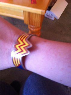 My Wonder Woman bracelet of awesomeness.