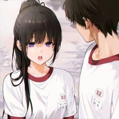 Best Anime Couples, Anime Love Couple, Anime Couples Manga, Anime Neko, Kawaii Anime Girl, Anime Art Girl, Manga Girl, Friend Anime, Anime Best Friends