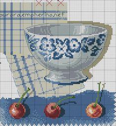 Cross Stitch Kitchen, Just Cross Stitch, Cross Stitch Charts, Cross Stitch Patterns, Cross Stitching, Cross Stitch Embroidery, Embroidery Patterns, Crochet Cross, Le Point