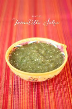 #Recipe | On the menu for this weekend's festivities - Roasted Tomatillo Salsa Recipe on SMP Living: http://www.stylemepretty.com/living/2013/05/03/roasted-tomatillo-salsa | from our girl Melissa of yourstrulypaper.com