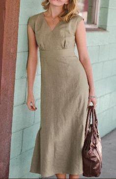 Платье из льна фото