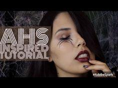 American Horror Story | Spider Crawling Out Of Eyes Tutorial - YouTube #ahs #halloweenmakeup #halloween #makeuptutorial