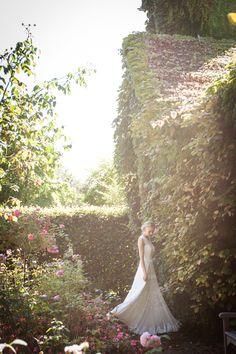 Brautkleid Netis Seide, floral design silk wedding dress