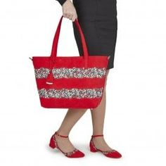 92a27909c69ad Ruby Shoo Mijas Red Beach Style Large Bag Matches Lydia