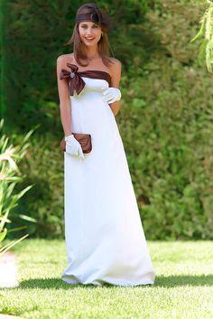 robe bustier satin ivoirechocolat tatifr - Tati Fr Mariage
