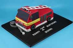 I specialise in creating custom made cakes, cupcakes and cookies for any occasion, from birthdays to weddings. Fireman Sam Cake, Fireman Party, Happy 2nd Birthday, 2nd Birthday Parties, Fire Engine Cake, Fire Fighter Cake, Truck Birthday Cakes, Custom Cupcakes, Kart
