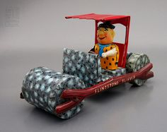 Flintstones - FLINTSTONE FLIVVER friction tin toy by Marx Toys - 1962