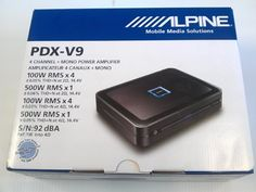 Alpine PDX-V9, 5-Channel Extreme Power Density Digital Amplifier - http://www.productsforautomotive.com/alpine-pdx-v9-5-channel-extreme-power-density-digital-amplifier/
