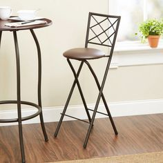 Folding Bar Stools And Space Saver Like The Simplicity Of