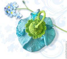 """Куколка-миниатюра - Феечка """"Незабудка"""" - нежные голубые кропотливо вывязанные лепесточки про краю имеют тонкую проволочку, что позволяет делать изгиб лепестков, как угодно. Отделака бисером. Crochet Earrings, Toys, Jewelry, Activity Toys, Jewels, Schmuck, Jewerly, Jewelery, Jewlery"""