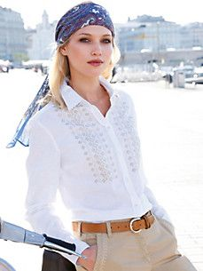 Peter Hahn - Blouse Bell Sleeves, Bell Sleeve Top, Blouses For Women, White Blouses, Tunic, Beige, Lace, Book, Fashion
