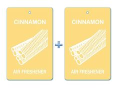 Cinnamon Flavor Air Freshener Paper Hanging Bar(Pack of 2)/Car-Home-Office Ecofriendly Pocket Perfume