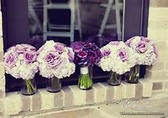 Purple Wedding Flowers Soft White and Purple Hydrangea and Roses and Deep Purple Ranunculi and Hydrangea Bouquets - The French Bouquet - Artworks Tulsa Photography Hydrangea Bridesmaid Bouquet, Purple Wedding Bouquets, Bride Bouquets, Bouquet Wedding, Purple Hydrangea Bouquet, Flower Bouquets, Royal Purple Wedding, Plum Wedding, Diy Wedding