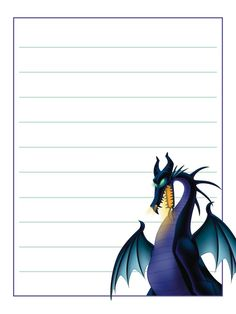 Journal Card - Maleficent - Dragon - 3x4 photo by pixiesprite