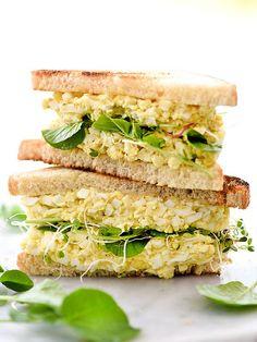 Curried Egg Salad Sandwich | foodiecrush.com