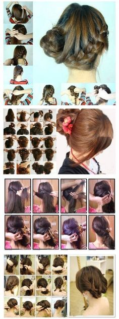 *Cute bobs, Curly hair, Braids, updos PICTURE TUTORIAL DIY how to