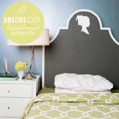 diy-headboards - just looked at headboards online, expensive! I love the chalkboard paint idea.
