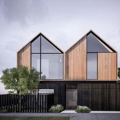 Like: Windows to the top of the peaks. Dislike: Fence and narrow timber panels.