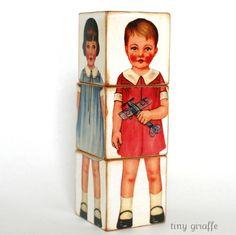 Vintage Paper Doll Blocks