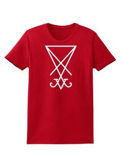 TooLoud Sigil of Lucifer - Seal of Satan Womens Dark T-Shirt
