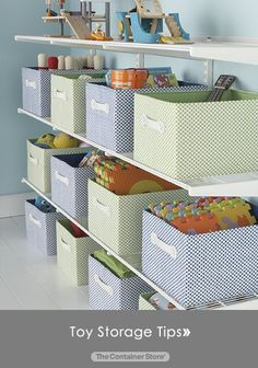 Toy Storage Tips! #organizedkids