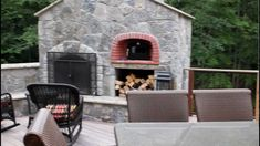kitchen pizza oven outdoor covered outdoor kitchen and stone fireplace with pizza oven built into this deck