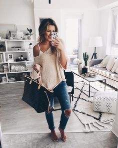 Cool Ways to Style Jeans Outfit For All Occasions - Inspired Beauty Trendy Summer Outfits, Fall Winter Outfits, Autumn Winter Fashion, Spring Outfits, Spring Summer Fashion, Casual Outfits, Cute Outfits, Fashion Outfits, Womens Fashion