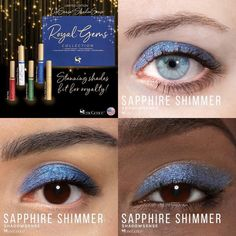 Limited Edition Sapphire Shimmer is a part of the Royal Gems Collection.  It has a rich, light-to-medium blue with a shimmer finish #royalgems #sapphireshimmer #shadowsense