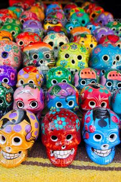 Aztec skulls Mexican Day of the Dead colorful — Stock Photo #5124950