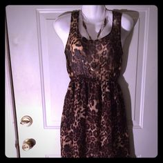 Cheetah Print Hi-Low Maxi Dress Cheetah print high-low maxi dress from Forever 21. Size small. Excellent condition. Forever 21 Dresses High Low
