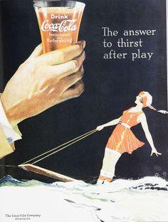 coca-cola vintage advertisementes of the 1920s