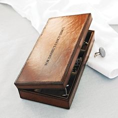 leather cufflink box by ginger rose | notonthehighstreet.com