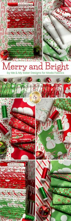Merry and Bright is a beautiful Christmas collection by Me & My Sister Designs for Moda Fabrics. 100% cotton. Shop now at ShabbyFabrics.com! Shabby Fabrics, Christmas Sewing, Merry And Bright, Beautiful Christmas, Fabric Design, Designers, Holiday Decor, Winter, Shop