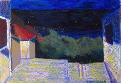 #Montenegro, #Night, #Art, #Pastel