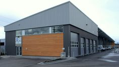 Metal Buildings Arkansas Financing and Metal Garage Buildings Oklahoma. Metal Building Homes, Building Exterior, Building Design, Building A House, Church Building, Warehouse Home, Warehouse Design, Industrial Architecture, Roof Architecture