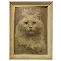 Study of a Cat by Farn Clausge | From a unique collection of antique and modern paintings at http://www.1stdibs.com/furniture/wall-decorations/paintings/
