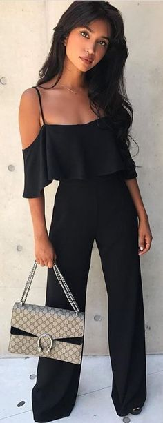 cb41d92113bf  winter  outfits black romper pants Black Romper Outfit